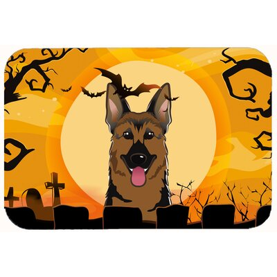 Halloween German Shepherd Kitchen/Bath Mat Size: 20 W x 30 L