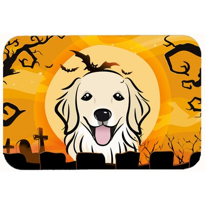 Halloween Retriever Kitchen/Bath Mat Size: 24 W x 36 L