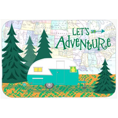 Lets Adventure Glamping Trailer Kitchen/Bath Mat Size: 20 W x 30 L