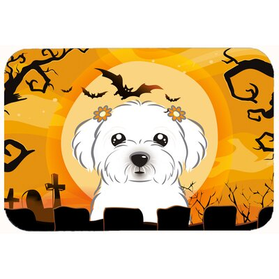 Halloween Maltese Kitchen/Bath Mat Size: 24 W x 36 L