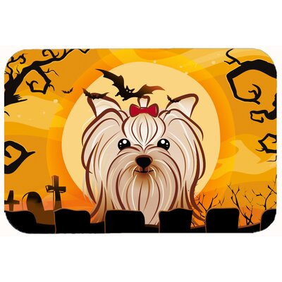 Halloween Yorkshire Terrier Kitchen/Bath Mat Size: 20 W x 30 L