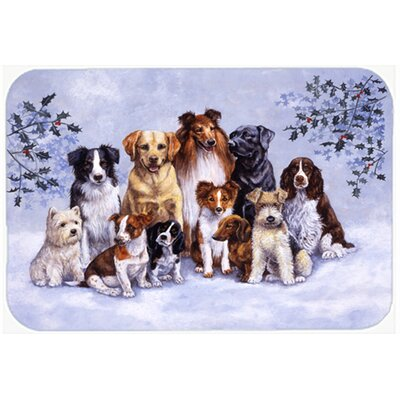 Winter Dogs Kitchen/Bath Mat Size: 20 W x 30 L