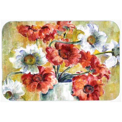 Flowers by Fiona Goldbacher Kitchen/Bath Mat Size: 20 W x 30 L