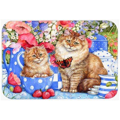 Cats Kitchen/Bath Mat Size: 24 W x 36 L