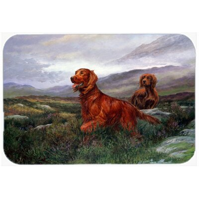 Irish Setters by Elizabeth Halstead Kitchen/Bath Mat Size: 24 W x 36 L