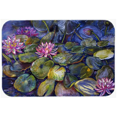 Waterlilies by Neil Drury Kitchen/Bath Mat Size: 24 W x 36 L