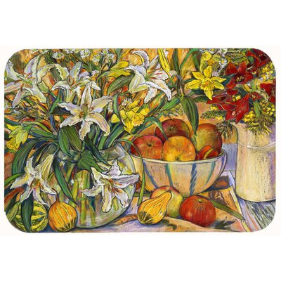 Fruit, Flowers and Vegetables Kitchen/Bath Mat Size: 24 W x 36 L