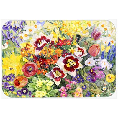 Spring Floral by Anne Searle Kitchen/Bath Mat Size: 24 W x 36 L