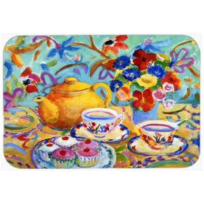 Kempwood Tea by Wendy Hoile Hand Wash Kitchen/Bath Mat Size: 24 W x 36 L