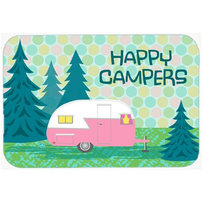 Happy Campers Glamping Trailer Kitchen/Bath Mat Size: 20 W x 30 L