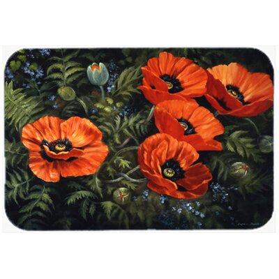 Poppies by Daphne Baxter Kitchen/Bath Mat Size: 20 W x 30 L