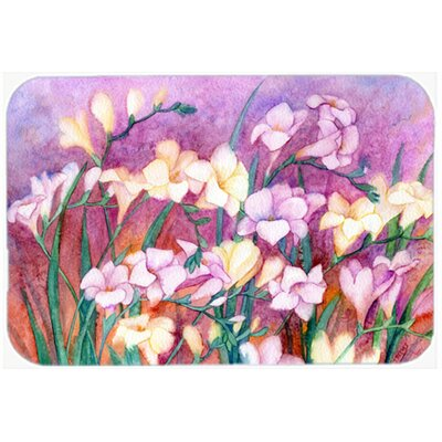 Freesias Kitchen/Bath Mat Size: 24 W x 36 L