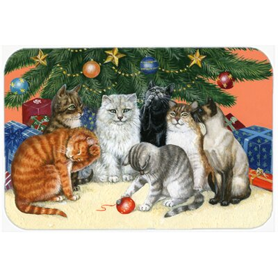 Cats under the Christmas Tree Kitchen/Bath Mat Size: 20 W x 30 L