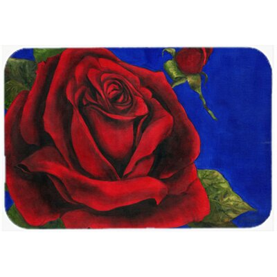 Rose by Malenda Trick Kitchen/Bath Mat Size: 24 W x 36 L