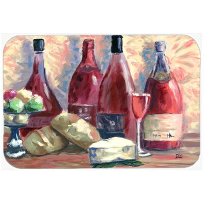 Wine and Cheese by David Smith Kitchen/Bath Mat Size: 24 W x 36 L