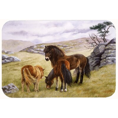 Horses in the Meadow Kitchen/Bath Mat Size: 24 W x 36 L