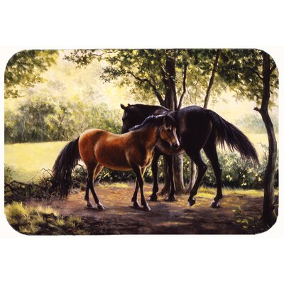 Horses by Daphne Baxter Kitchen/Bath Mat Size: 24 W x 36 L