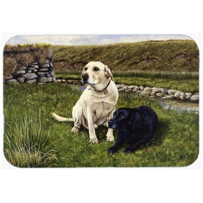 Labradors Kitchen/Bath Mat Size: 20