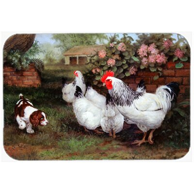 Chickens, Hens and Puppy Kitchen/Bath Mat Size: 20 W x 30 L