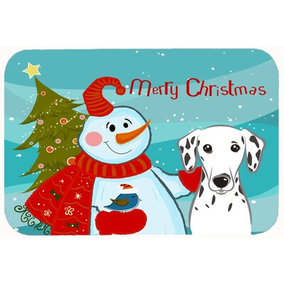 Snowman with Dalmatian Kitchen/Bath Mat Size: 20 W x 30 L