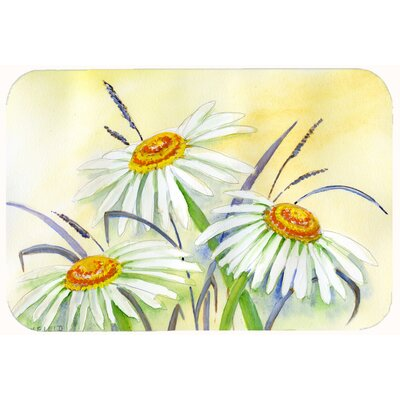 Daisies by Maureen Bonfield Kitchen/Bath Mat Size: 24 W x 36 L