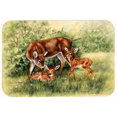 Deer by Daphne Baxter Kitchen/Bath Mat Size: 24 W x 36 L