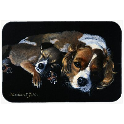 Cozy Pals with Cavalier Spaniel Kitchen/Bath Mat Size: 24 W x 36 L