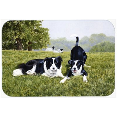 Lets Play Border Collie Kitchen/Bath Mat Size: 24 W x 36 L