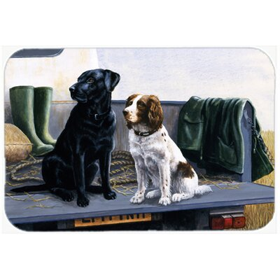 On The Tailgate Labrador and Springer Spaniel Kitchen/Bath Mat Size: 20 W x 30 L
