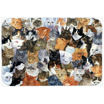 Cats Galore Kitchen/Bath Mat Size: 20