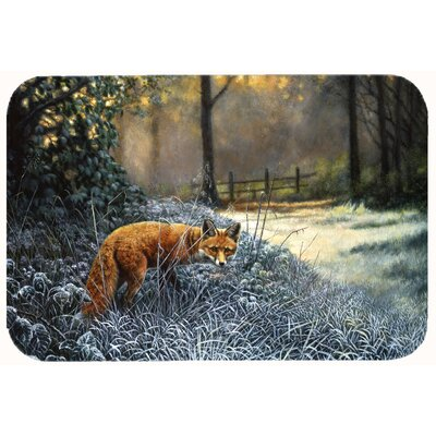 Fox on the Hunt Kitchen/Bath Mat Size: 24 W x 36 L