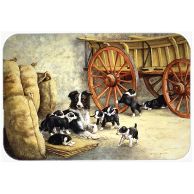 Border Collie Dog Litter Kitchen/Bath Mat Size: 24 W x 36 L
