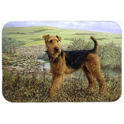 Airedale Terrier The Kings Country Kitchen/Bath Mat Size: 20 W x 30 L