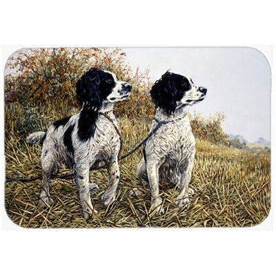 Two Springer Spaniels by Michael Herring Kitchen/Bath Mat Size: 24 W x 36 L