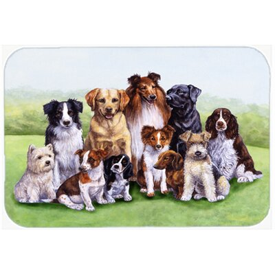 Justin Dogs Kitchen/Bath Mat Size: 24