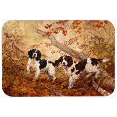 Springer Spaniels Kitchen/Bath Mat Size: 20 W x 30 L