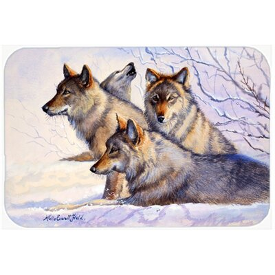 Wolves  Kitchen/Bath Mat Size: 24 W x 36 L