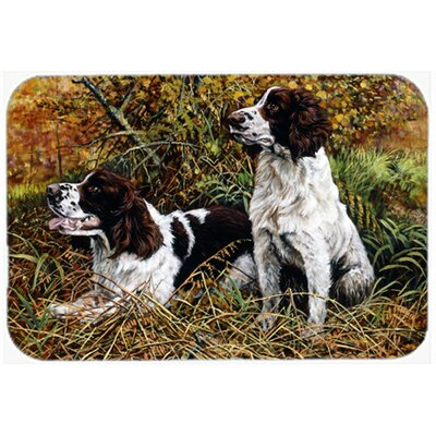 Two Springer Spaniels in the Grasses Kitchen/Bath Mat Size: 20 W x 30 L