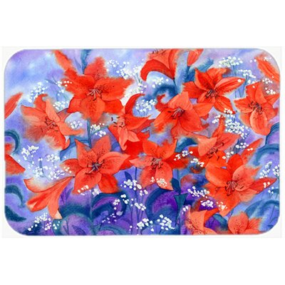 Lillies Kitchen/Bath Mat Size: 24 W x 36 L