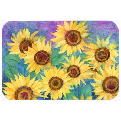 Landon Sunflowers Kitchen/Bath Mat Size: 24 W x 36 L
