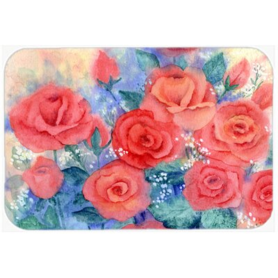 Roses Kitchen/Bath Mat Size: 20 W x 30 L