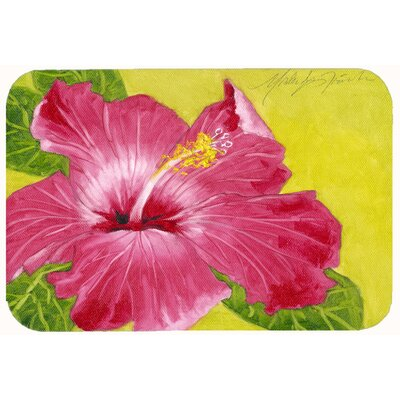 Hibiscus  Kitchen/Bath Mat Size: 24 W x 36 L