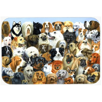 Fifty One Dogs Kitchen/Bath Mat Size: 24 W x 36 L