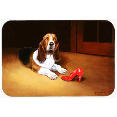 Basset and Shoe Kitchen/Bath Mat Size: 24 W x 36 L