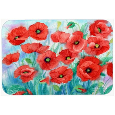 Poppies Kitchen/Bath Mat Size: 24 W x 36 L