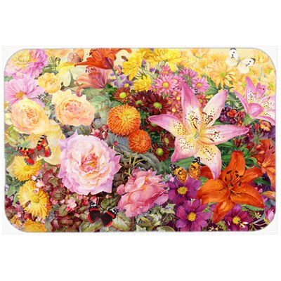 Autumn Floral by Anne Searle Kitchen/Bath Mat Size: 24 W x 36 L