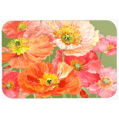 Poppies by Anne Searle Kitchen/Bath Mat Size: 24 W x 36 L