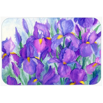 Iris Kitchen/Bath Mat Size: 24 W x 36 L