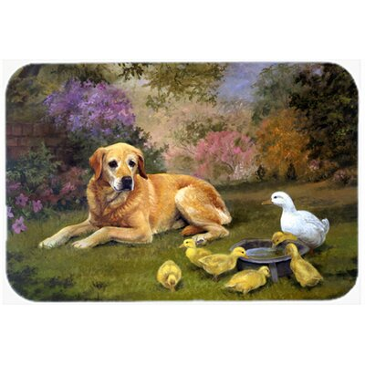Labrador and Chicks Kitchen/Bath Mat Size: 24 W x 36 L