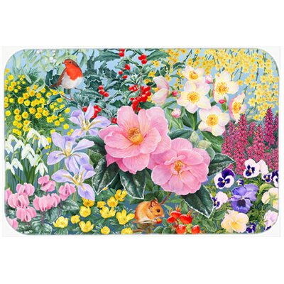 Winter Floral by Anne Searle Kitchen/Bath Mat Size: 24 W x 36 L